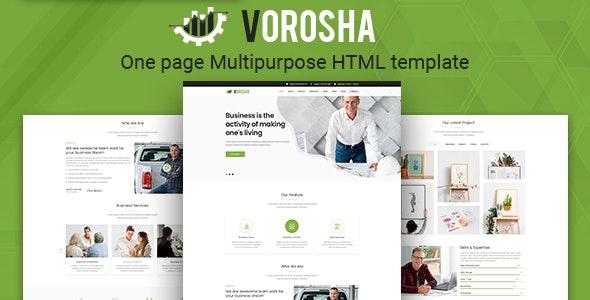 Vorosha - OnePage Multipurpose HTML Template - Corporate Site Templates