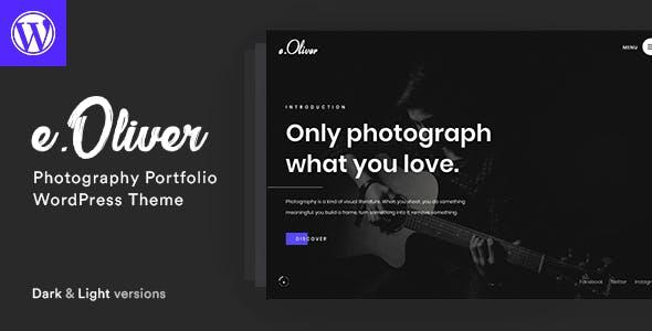 Oliver - Photography Portfolio Theme