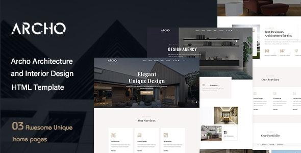 Archo - Architecture & Interior Design HTML Template - Business Corporate