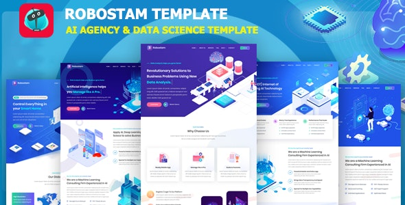 Robostam - AI Agency & Data Science HTML Template - Technology Site Templates