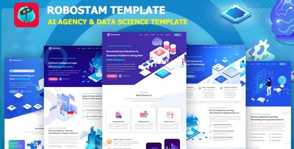 Robostam - IT Company & Technology Startup Template