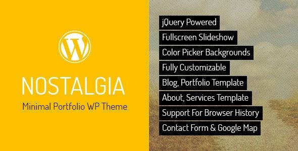 Nostalgia - Responsive Portfolio WordPress Theme - Portfolio Creative