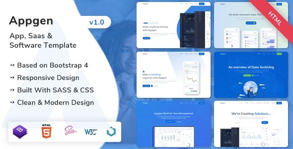 Download Appgen - App, Saas & Software Landing Page Template