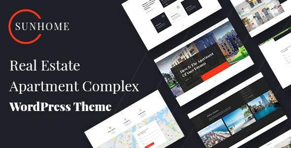 SunHome - Real Estate WordPress Theme - Real Estate WordPress