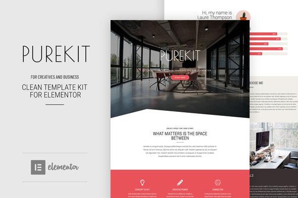 Purekit - Creatives & Business Elementor Template Kit - Business & Services Elementor