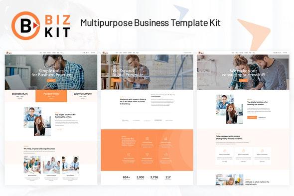 BizKit - Multipurpose Business Template Kit - Business & Services Elementor