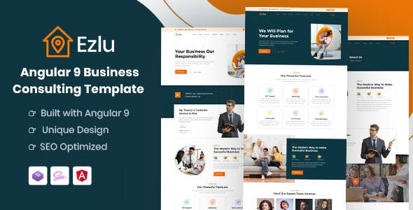 Download Ezlu - Angular 9 Business Consulting Template