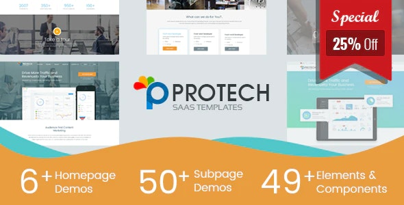 Protech SaaS -  SaaS, Software & WebApp Template - Software Technology