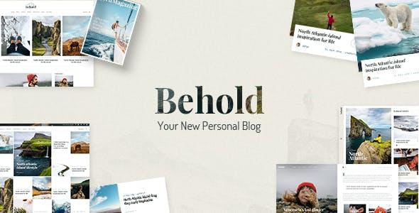 Download Behold - Personal Blog WordPress Theme