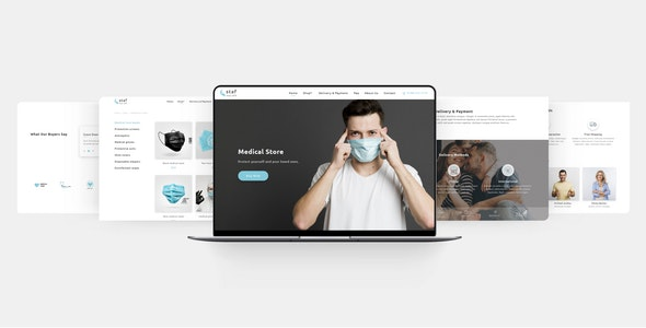 Staf - Medical Store Muse Template - eCommerce Muse Templates