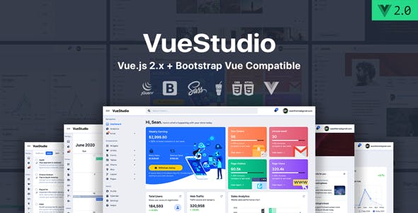 VueStudio - Bootstrap 4 Admin Template