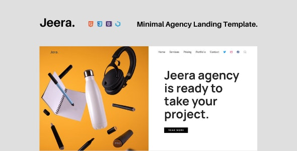 Jeera — Minimal Agency Landing Template - Landing Pages Marketing