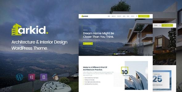 Arkid - Architecture and Interior Design WordPress Theme - Portfolio Creative