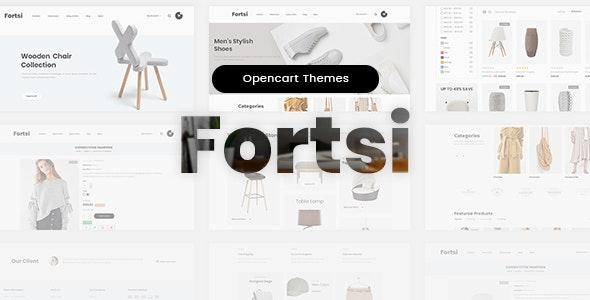 Fortsi - OpenCart 3.x Minimal Responsive Theme - Shopping OpenCart