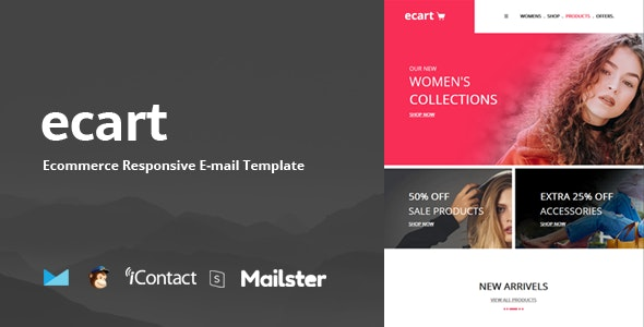 Ecart Mail - Responsive E-mail Template + Online Access - Email Templates Marketing