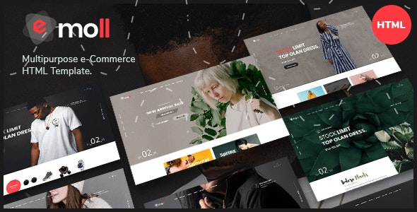 Emoll - Multipurpose eCommerce HTML5 Template - Retail Site Templates