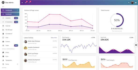Roe - ReactJS Admin Dashboard Template