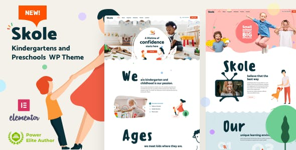 Download Skole - School Kindergarten WordPress Elementor