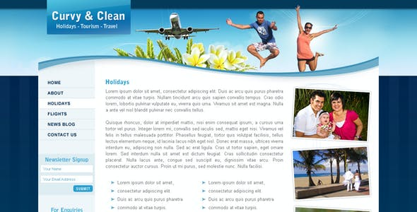 Curvy and Clean Travel - 3 page photoshop