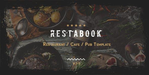 Download Restabook - Restaurant / Cafe / Pub Template