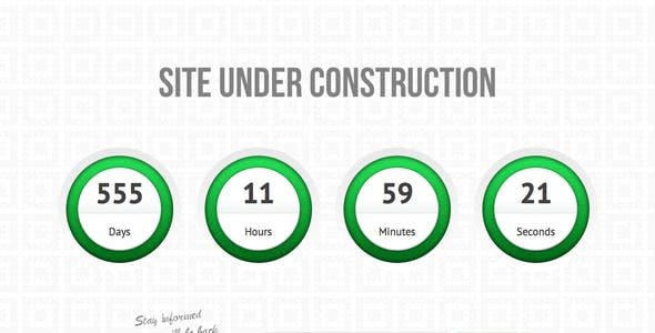 Circles - under construction / coming soon page