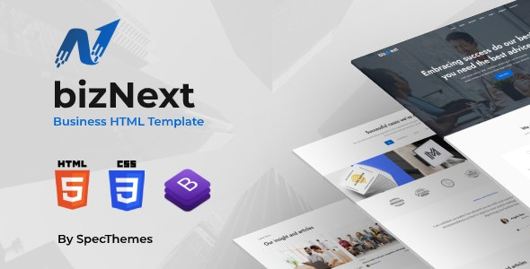 bizNext - Corporate Business Template - Business Corporate
