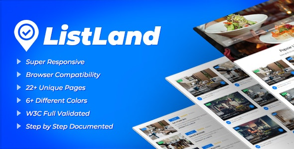 ListLand - Directory HTML Template - Business Corporate