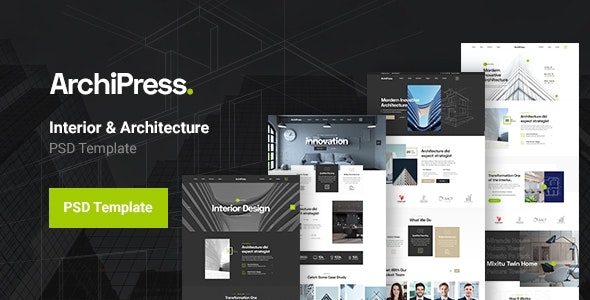 ArchiPress - Architecture Agency PSD Template - Business Corporate