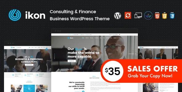 Ikon - Consulting WordPress Theme - Business Corporate