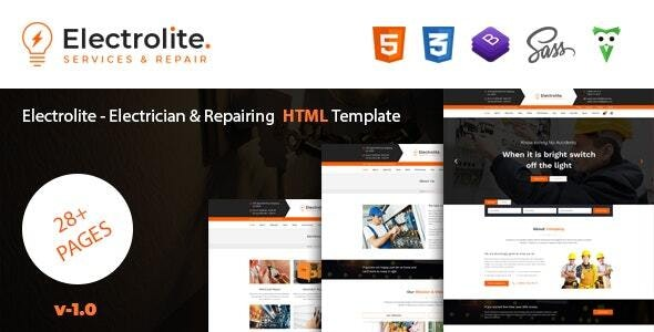 Electrolite - Electrician & Repairing HTML Template - Business Corporate