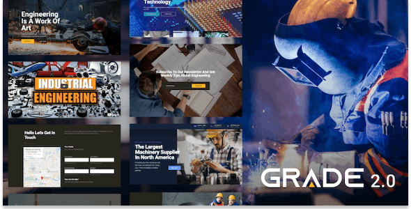 Grade 2.0 - Manufacturing and Industrial WordPress Theme