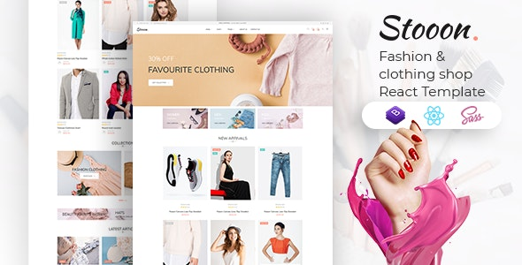 Stooon – eCommerce React Template - Fashion Retail