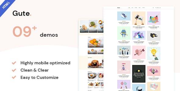 Download Gute | Minimalist Blog HTML5 Template