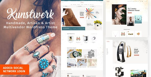 Download Kunstwerk - Handycraft Marketplace WordPress Theme