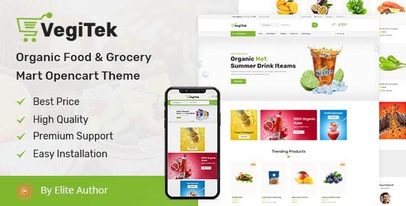 Vegitek - Organic Food & Grocery Mart Opencart Theme - Health & Beauty OpenCart
