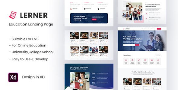 Lerner Education Landing Page