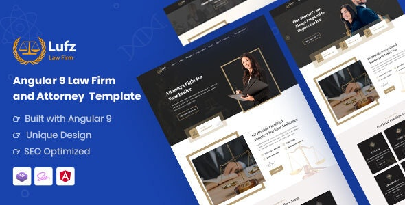 Lufz - Angular 9 Law Firm & Attorney Template - Corporate Site Templates