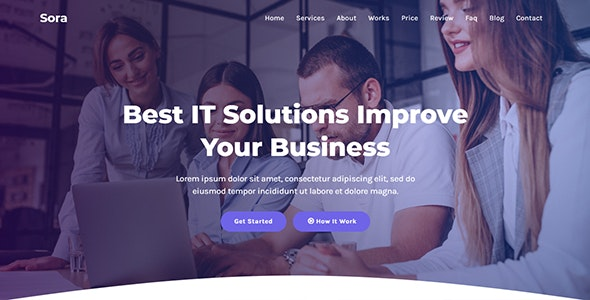 Sora - IT Solutions & Agency HTML Template - Technology Site Templates