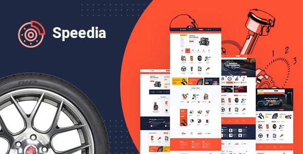 Speedia - AutoParts & Accessories PSD Template - Business Corporate