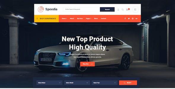 Speedia - AutoParts & Accessories PSD Template
