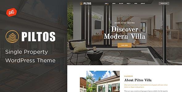 Piltos - Single Property WordPress Theme