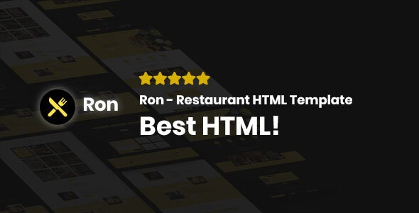 Ron - Restaurant HTML Template - Food Retail