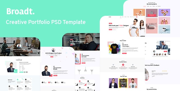 Broadt -  Portfolio PSD Template - Corporate Photoshop