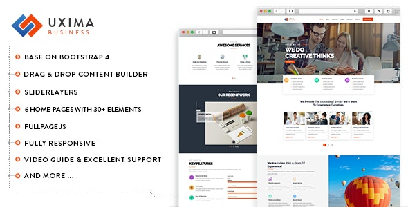 Uxima - Responsive Multipurpose Business Drupal 9 Theme - Business Corporate