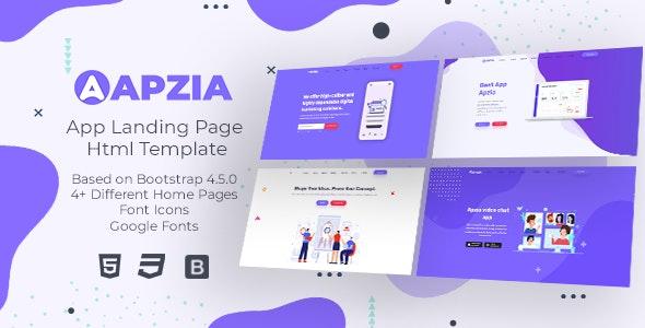 Apzia - App Landing Page HTML Template - Site Templates