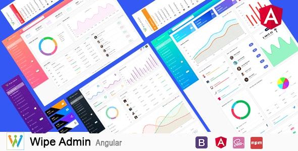 Wipe Admin – Angular 9+ Bootstrap 4+ Multipurpose Admin Dashboard Template - Admin Templates Site Templates