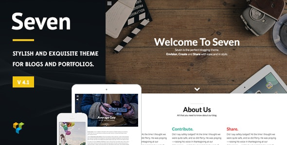 Seven - Stylish WordPress Theme - Personal Blog / Magazine