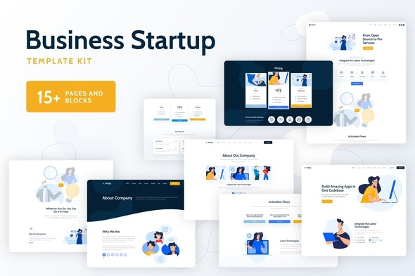 Vixus - Business Startup Template Kit - Business & Services Elementor