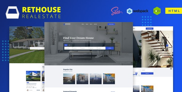 Rethouse - Real Estate HTML Template - Business Corporate