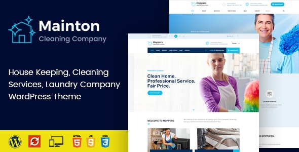Mainton - Cleaning Services WordPress Theme - Business Corporate